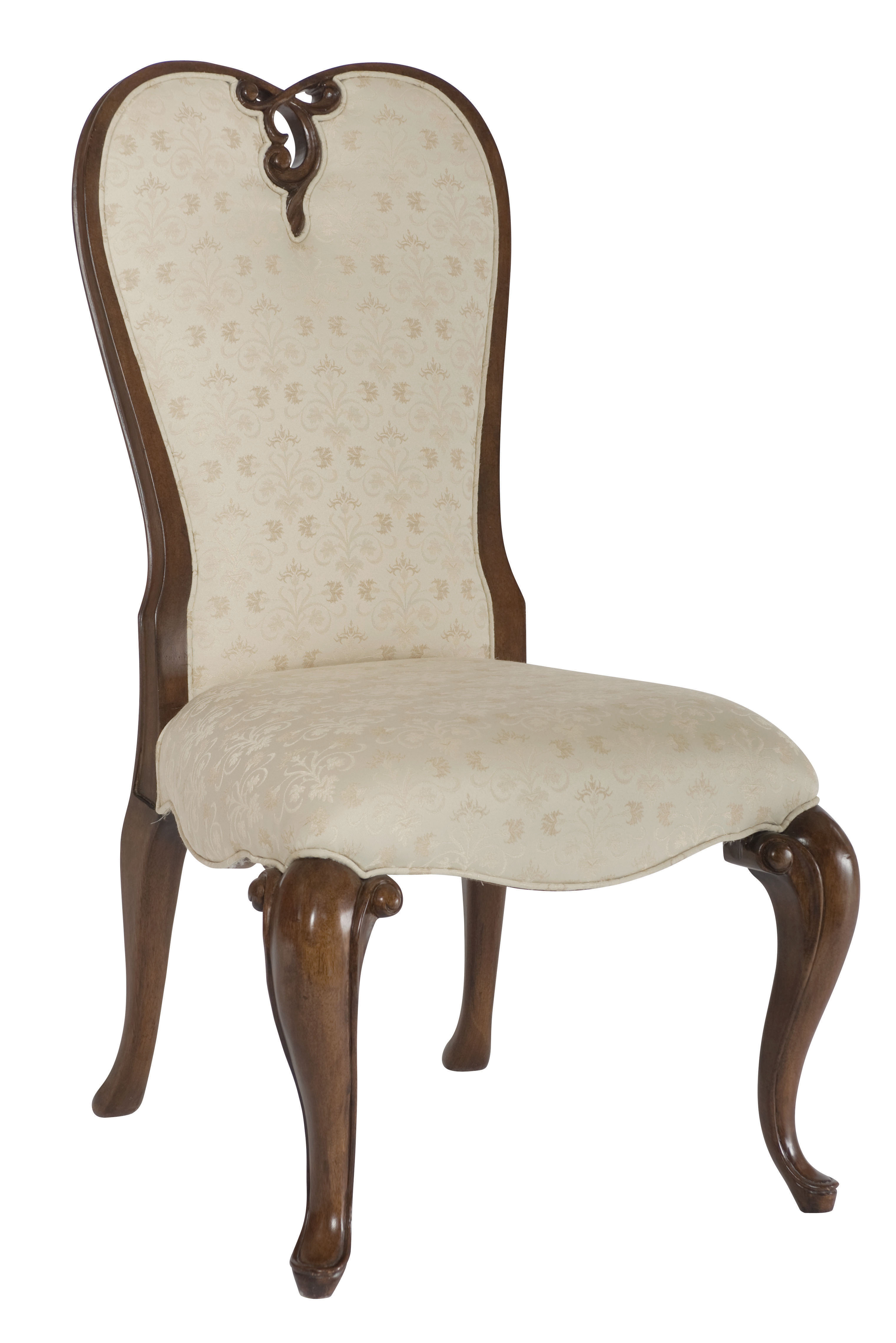 Pair of Upholstered Queen Anne Cherry Side Chairs | eBay