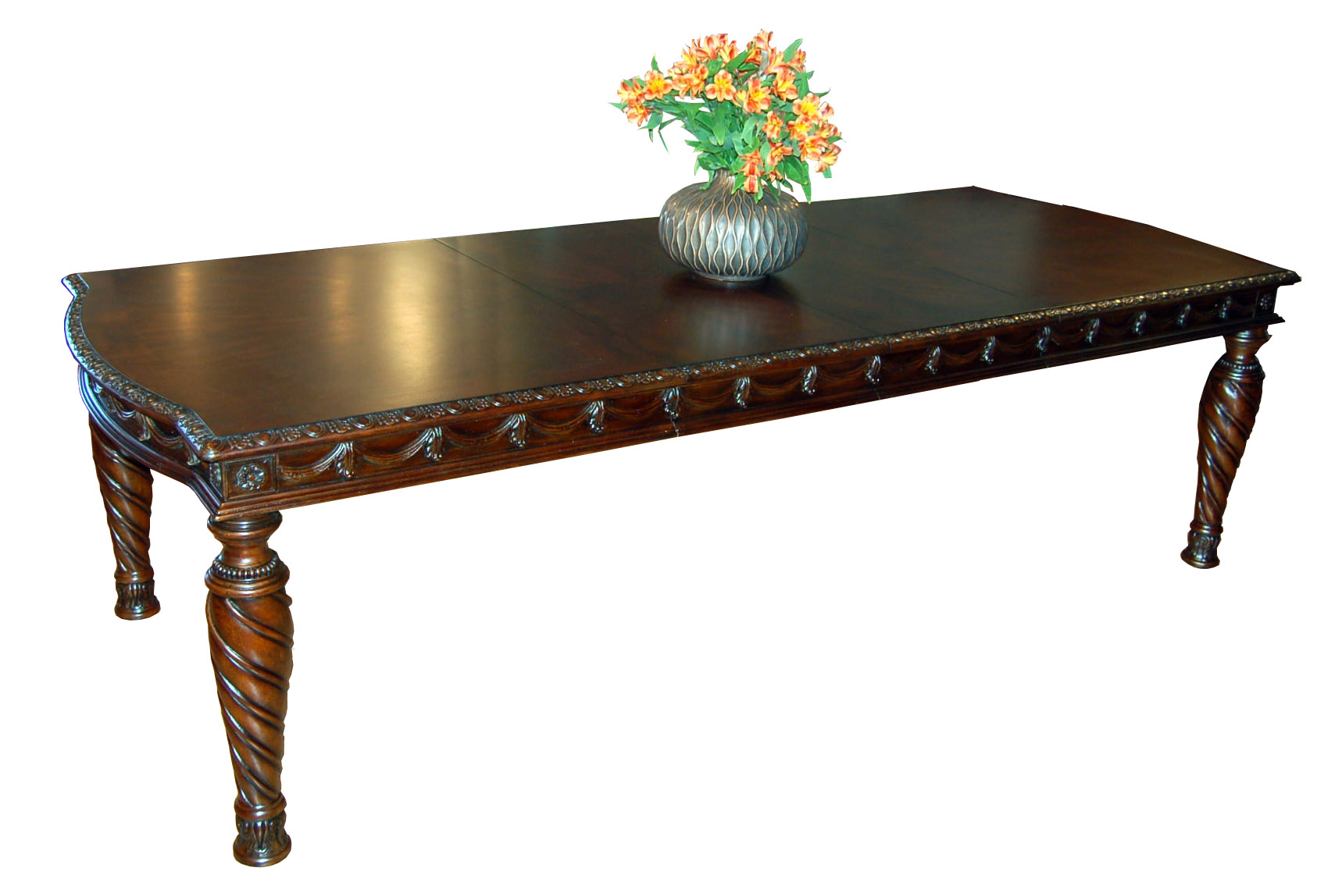 Details about Dark Mahogany Dining Table