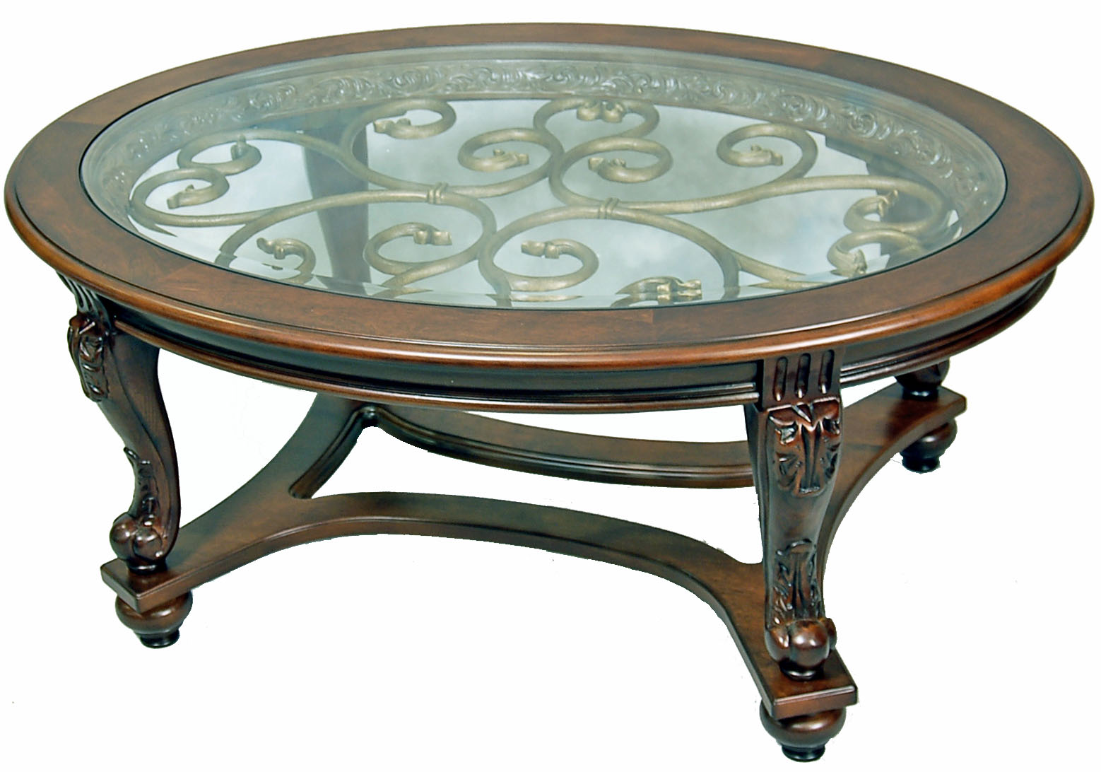 Dark brown oval coffee table ebay for Coffee table