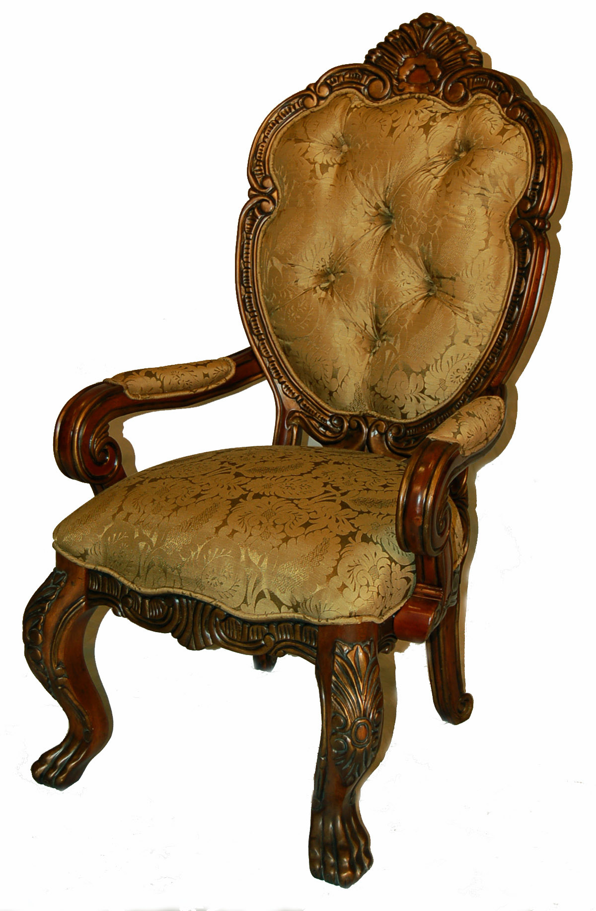 2 rococo upholsetered sheildback dining arm chairs ebay for Plastic baroque furniture