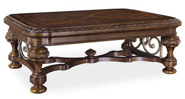 Coffee Cocktail Tables Castilian Ornate Rectangular Cocktail Table