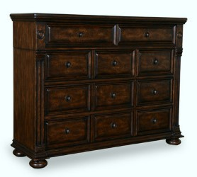 Tawny Walnut Eight Drawer Dresser