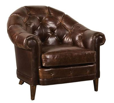 Mahogany and More Accent Chairs Tawny Rich Walnut Tufted