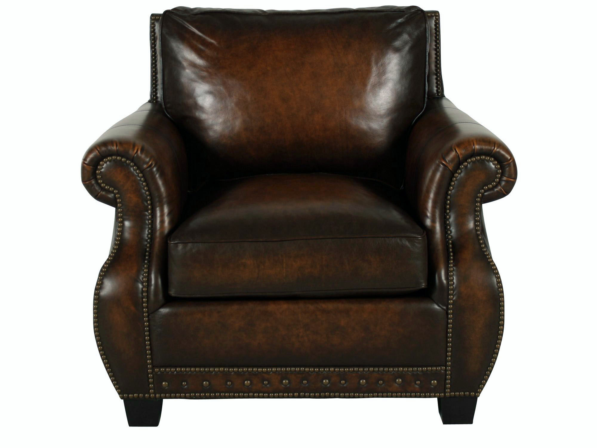 traditional genuine top grain brown leather club chair ebay. Black Bedroom Furniture Sets. Home Design Ideas