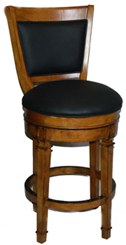 oak and leather bar stools