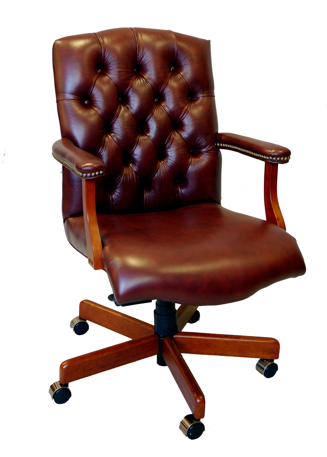 Large genuine leather executive office desk chair ebay for Best office desk chairs