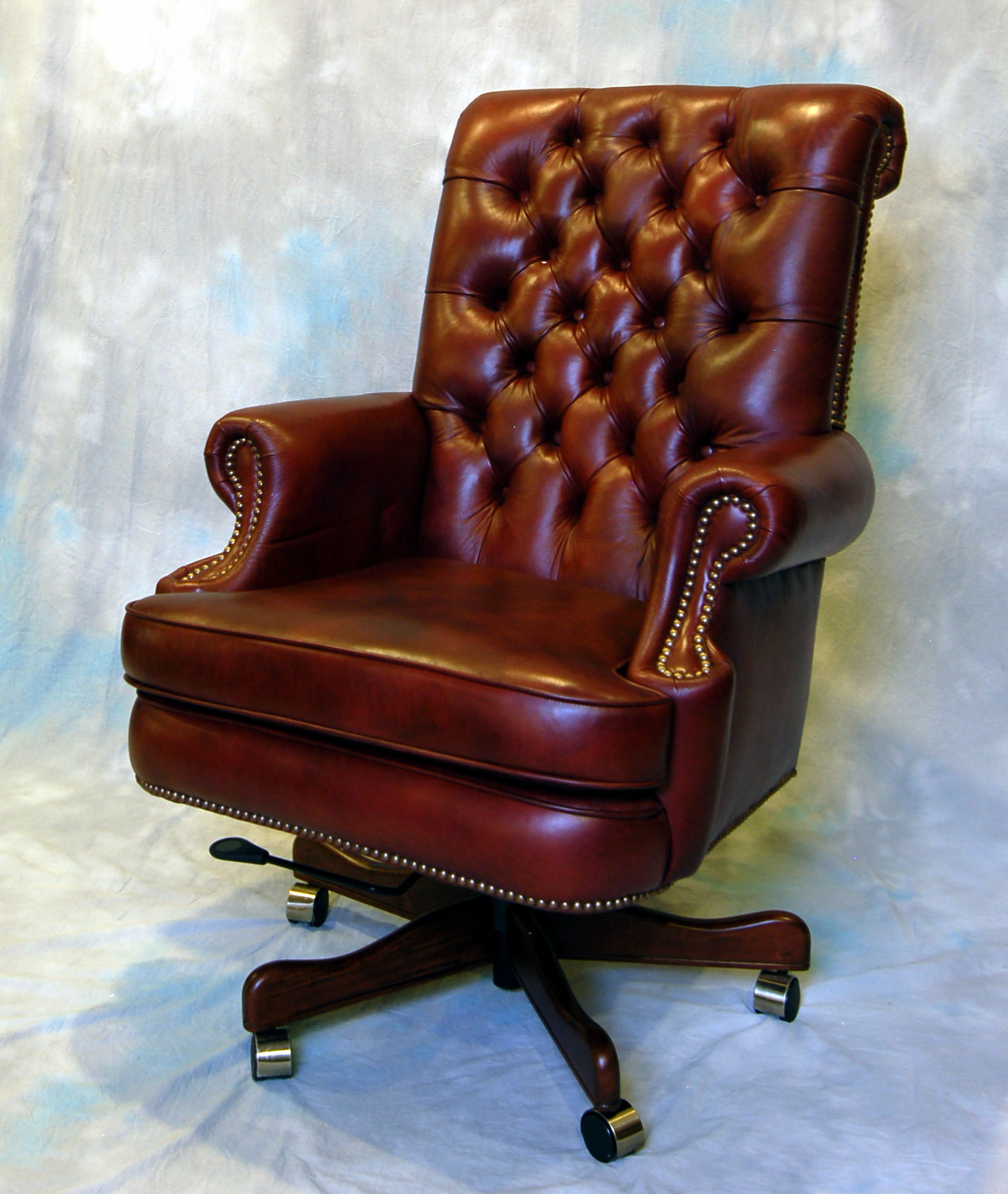 Office Chairs Clearance: Large Genuine Leather Executive Office Desk Chair