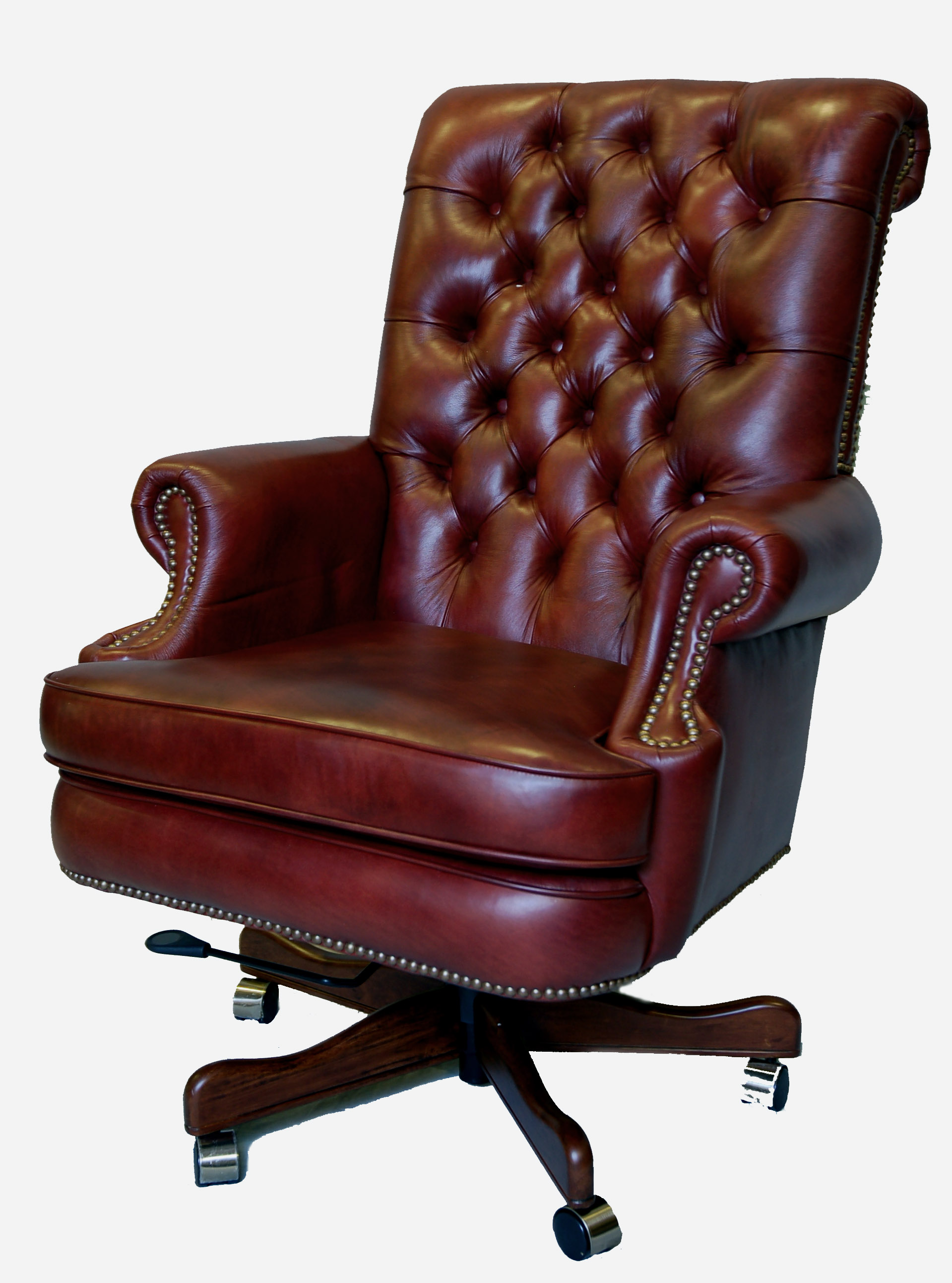large genuine leather executive office desk chair ebay. Black Bedroom Furniture Sets. Home Design Ideas
