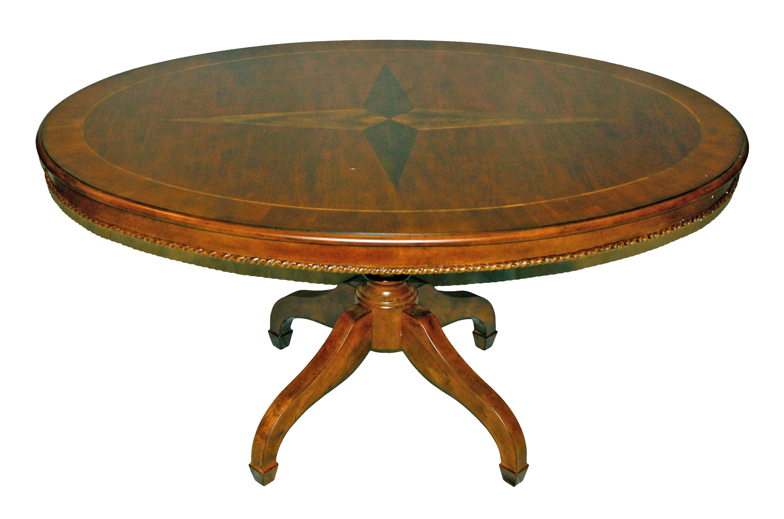 Traditional 60 oval inlaid dining table ebay for Oval dining table