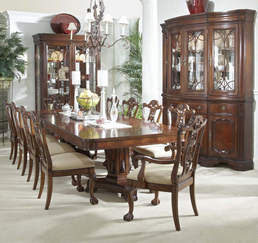 12 Piece Mahogany Dining Set Table Chairs China Cabinet eBay : fullview1exp from www.ebay.com size 847 x 800 jpeg 312kB