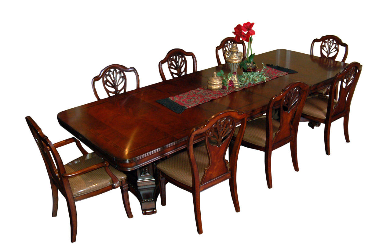 Mahogany 7 Piece Extension Dining Set Table amp 6 Chairs  : fullview1exp from www.ebay.co.uk size 1218 x 800 jpeg 197kB
