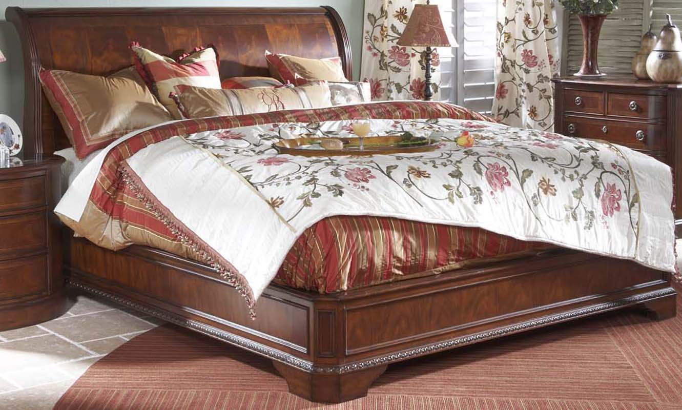 Heritage Mahogany Traditional King Size Sleigh Bed Ebay