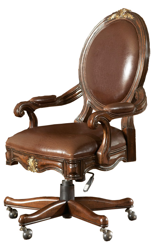 Home fice Leather Swivel Desk Chair