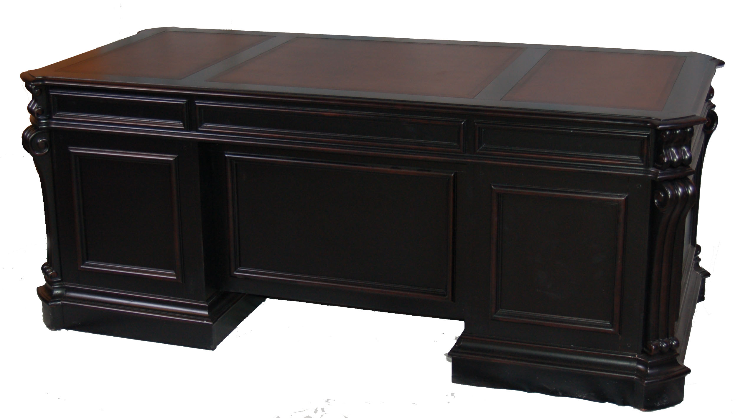Alchemist Large Black Executive Office Desk