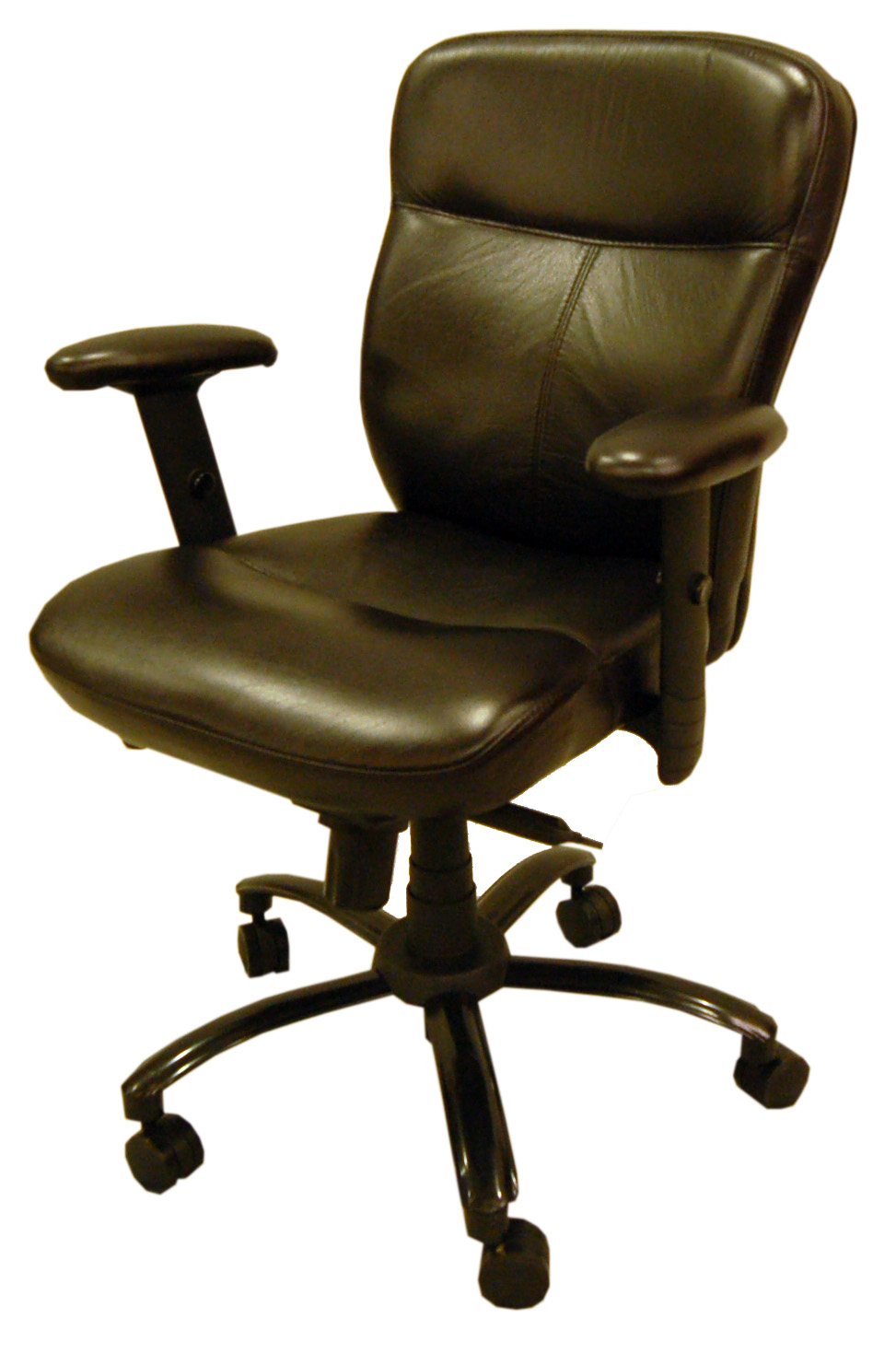 black leather office swivel tilt desk chair ebay