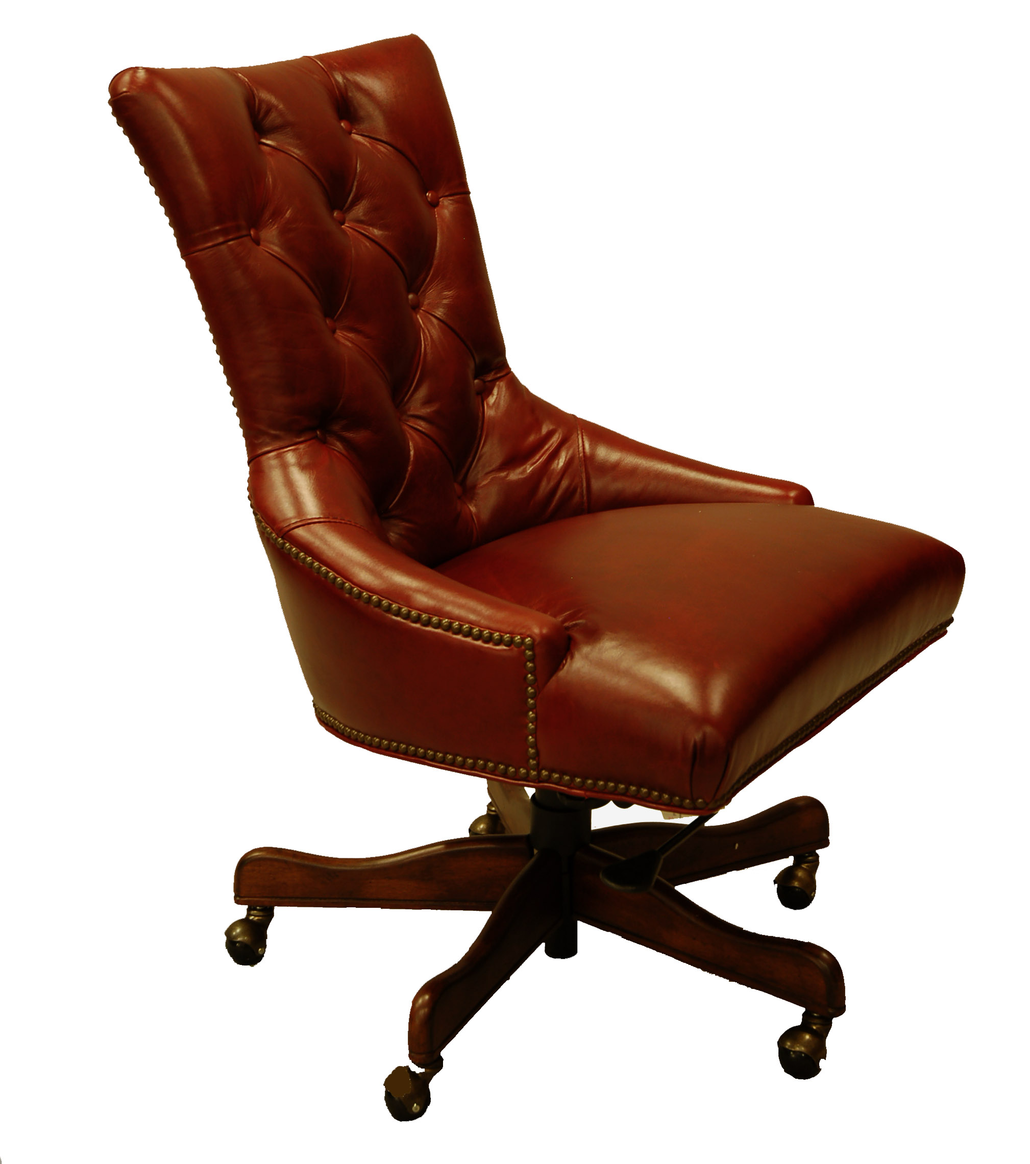 red leather executive office desk chair ebay. Black Bedroom Furniture Sets. Home Design Ideas