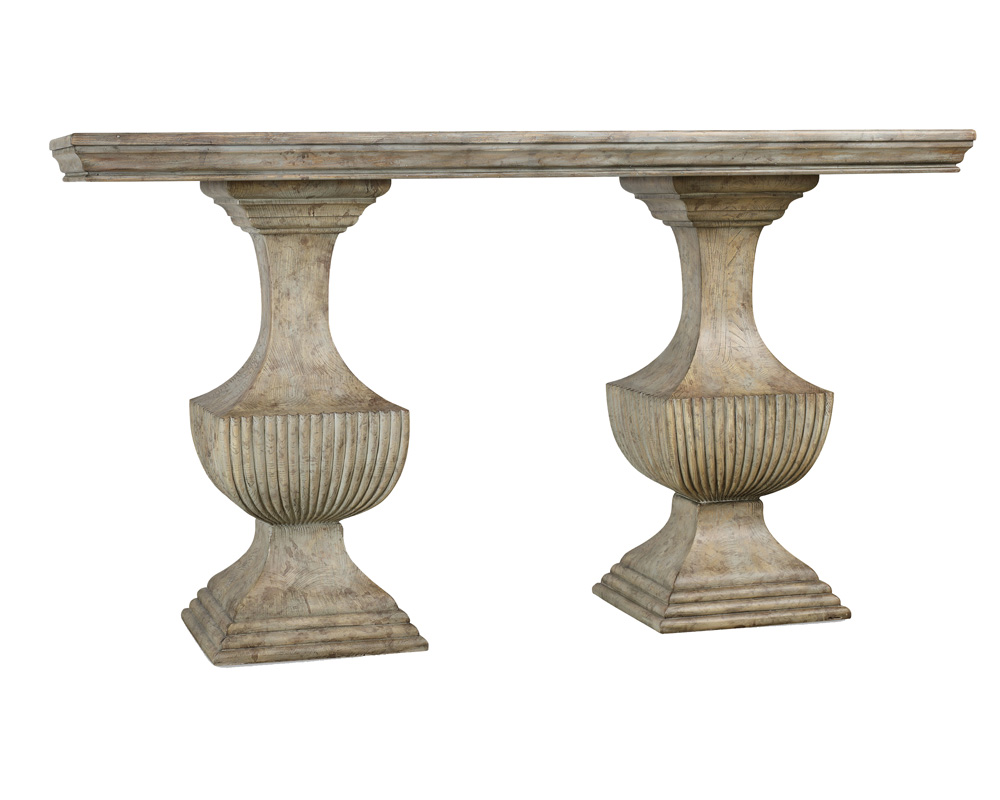 Double Urn Pedestal Base Accent Sofa Console Table Ebay