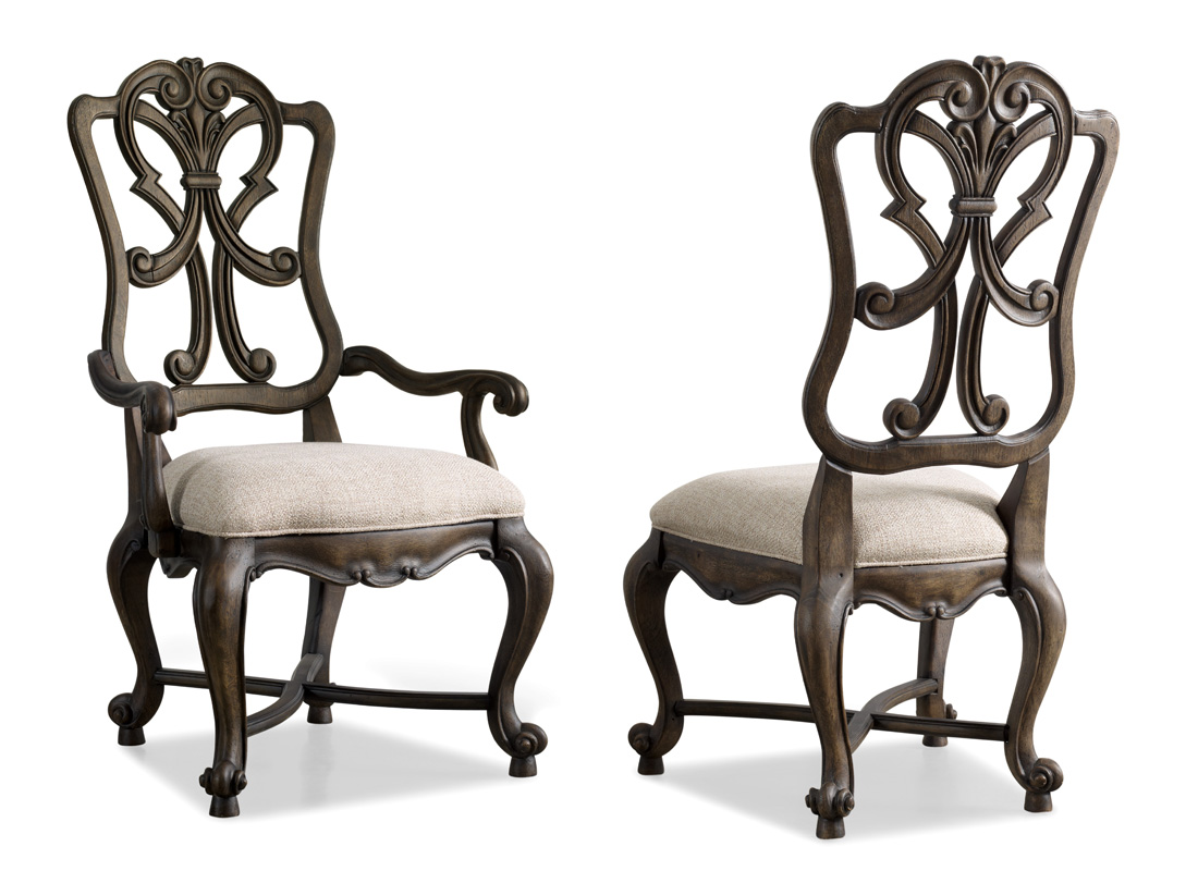 Wonderful image of Details about Set of 2 Wood Back Cream Upholstered Dining Arm Chairs with #322A23 color and 1100x800 pixels