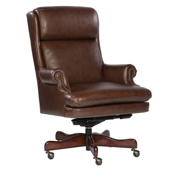 Coffee Leather Executive Office Desk Chair EBay