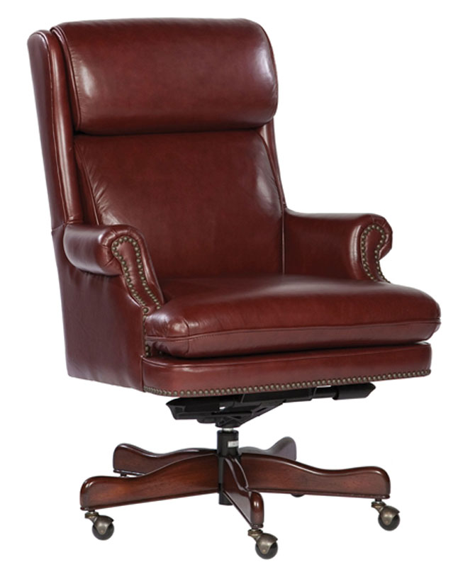 merlot genuine leather executive office desk chair this chair features