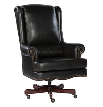 More Office Chairs Black Genuine Leather Executive Office Desk Chair