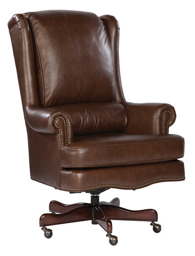 Details About Coffee Genuine Leather Executive Office Desk Chair
