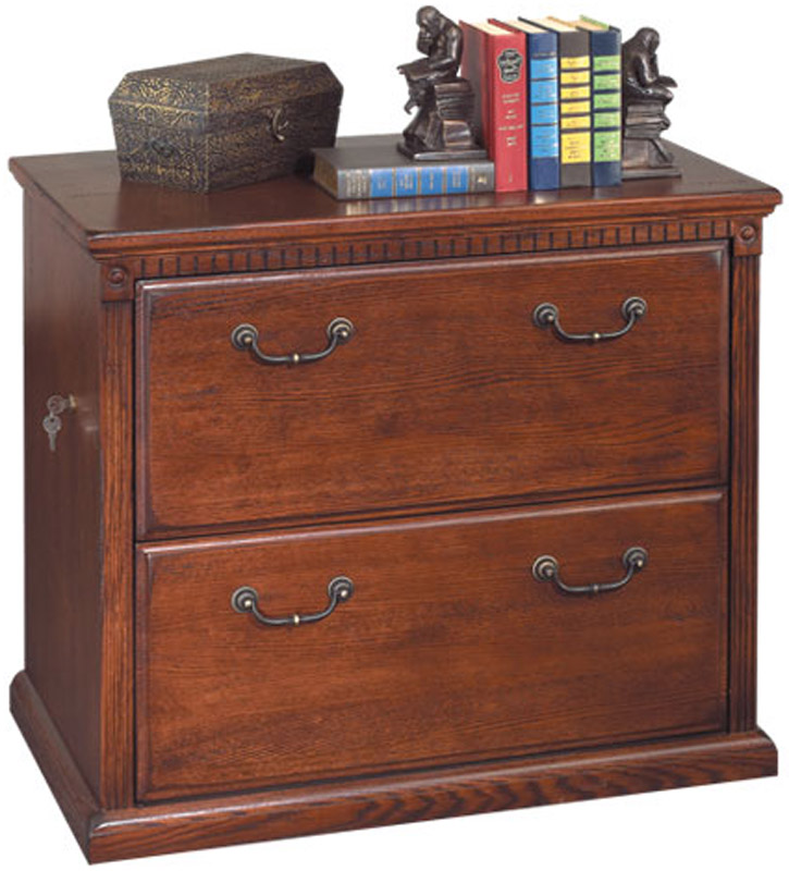 two drawer locking lateral oak office file cabinet ebay