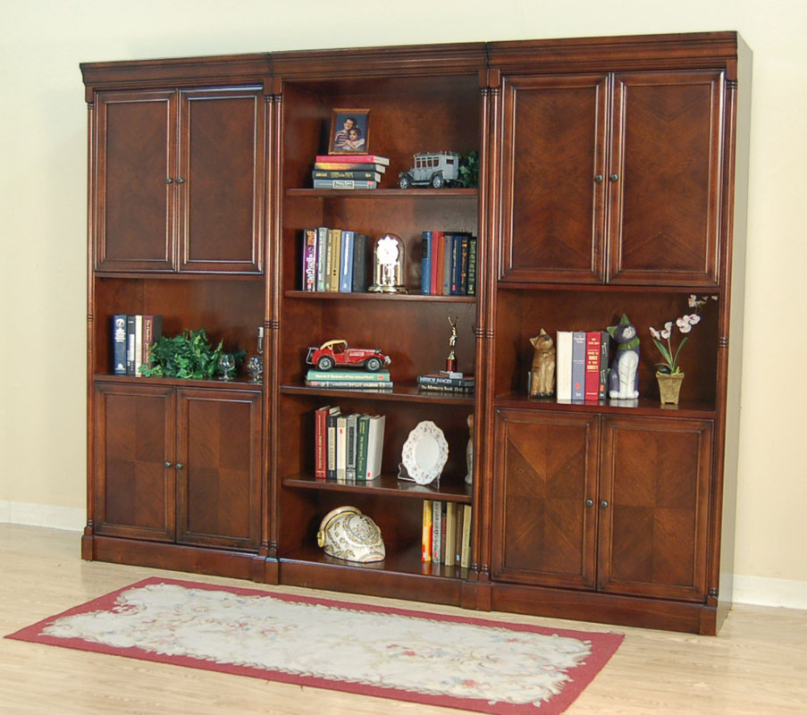 101 3 Pc Cherry Bookcase Bookshelf Wall Unit Ebay