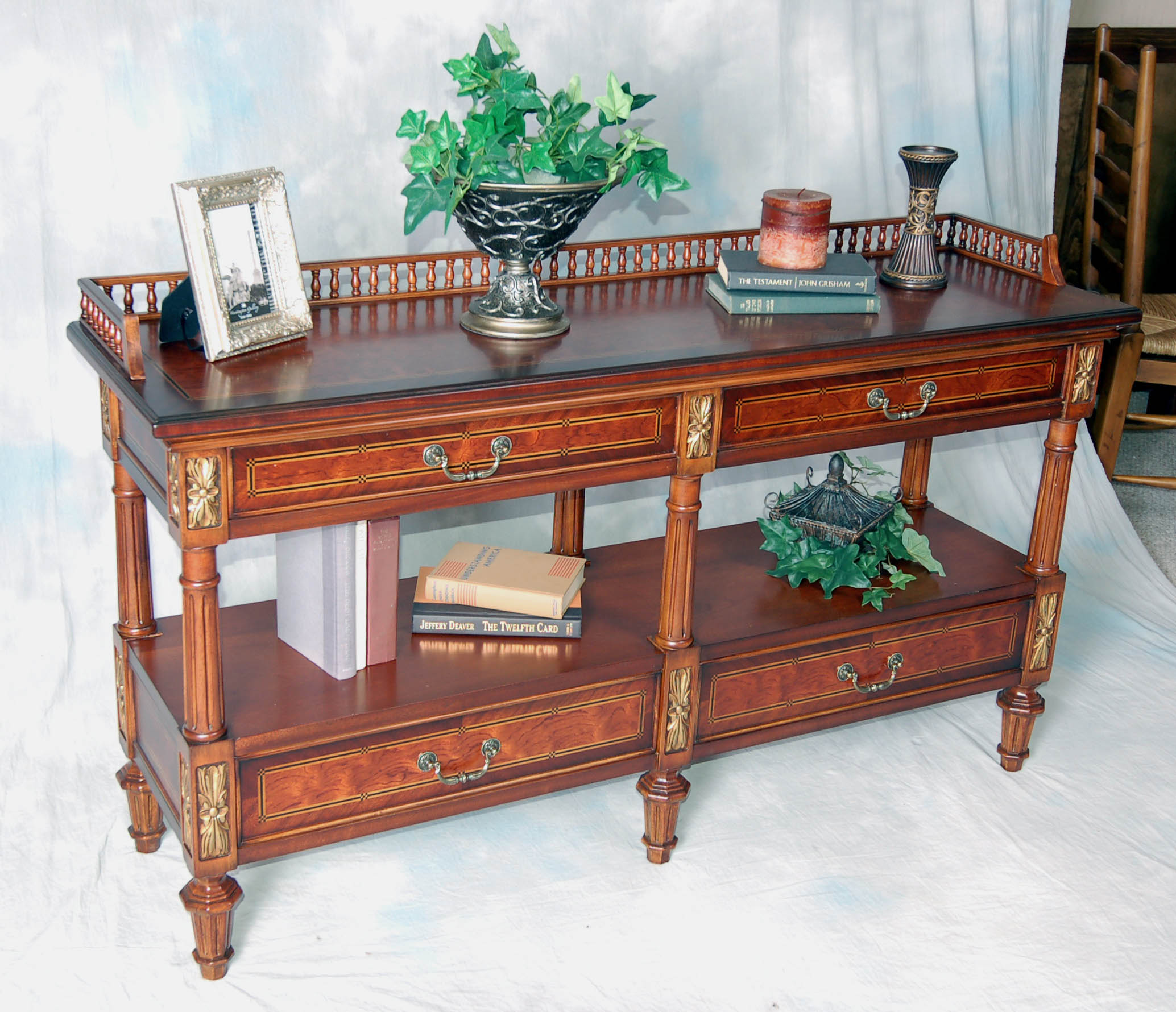 Long 2 Tier Ornate Accent Sofa Table Ebay