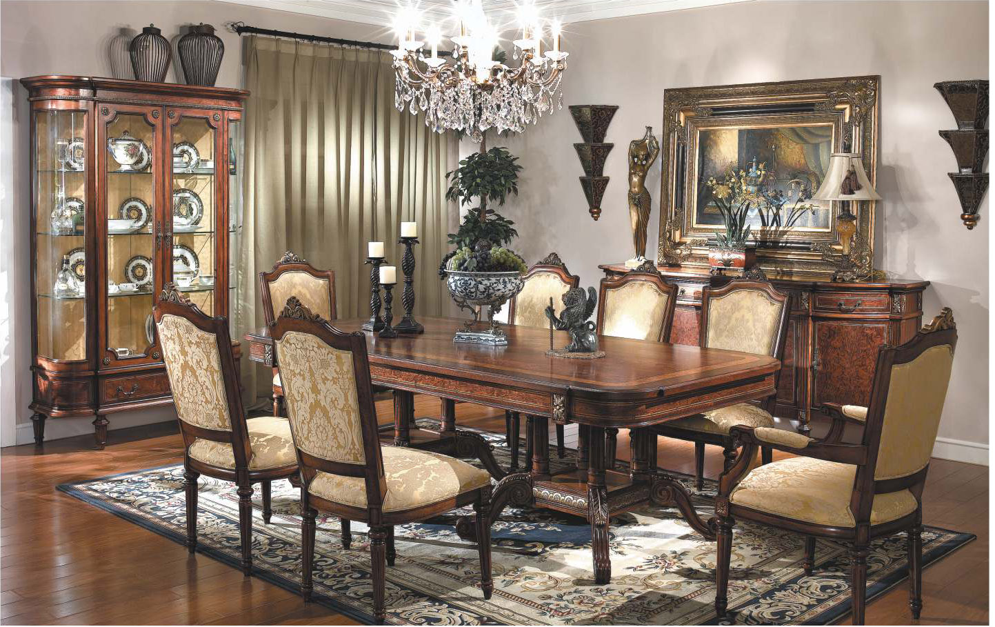 11 Piece French Ornate Dining Table And Chair Set EBay