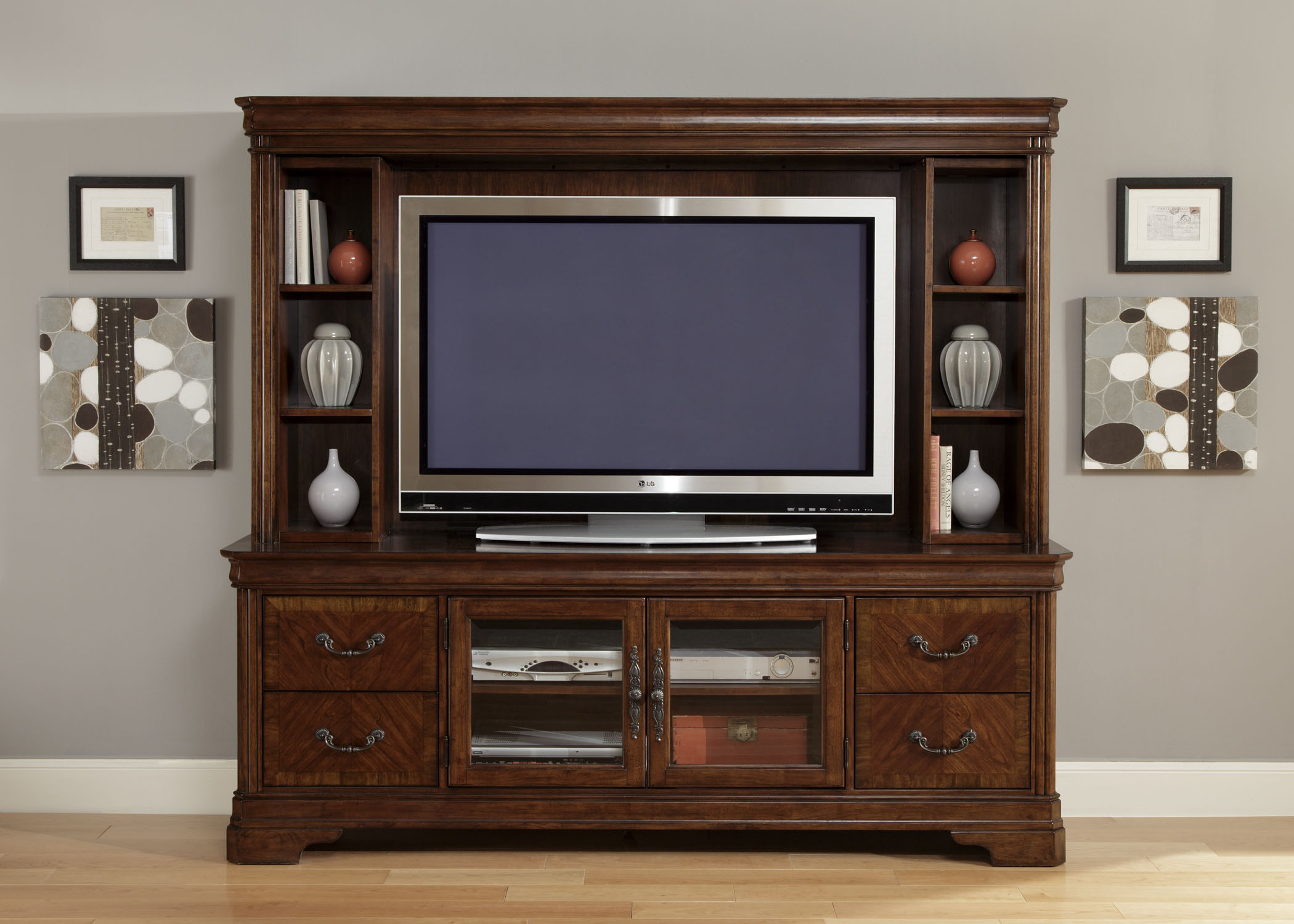 Bail Pulls For Furniture Details about Traditional Brown TV Entertainment Center