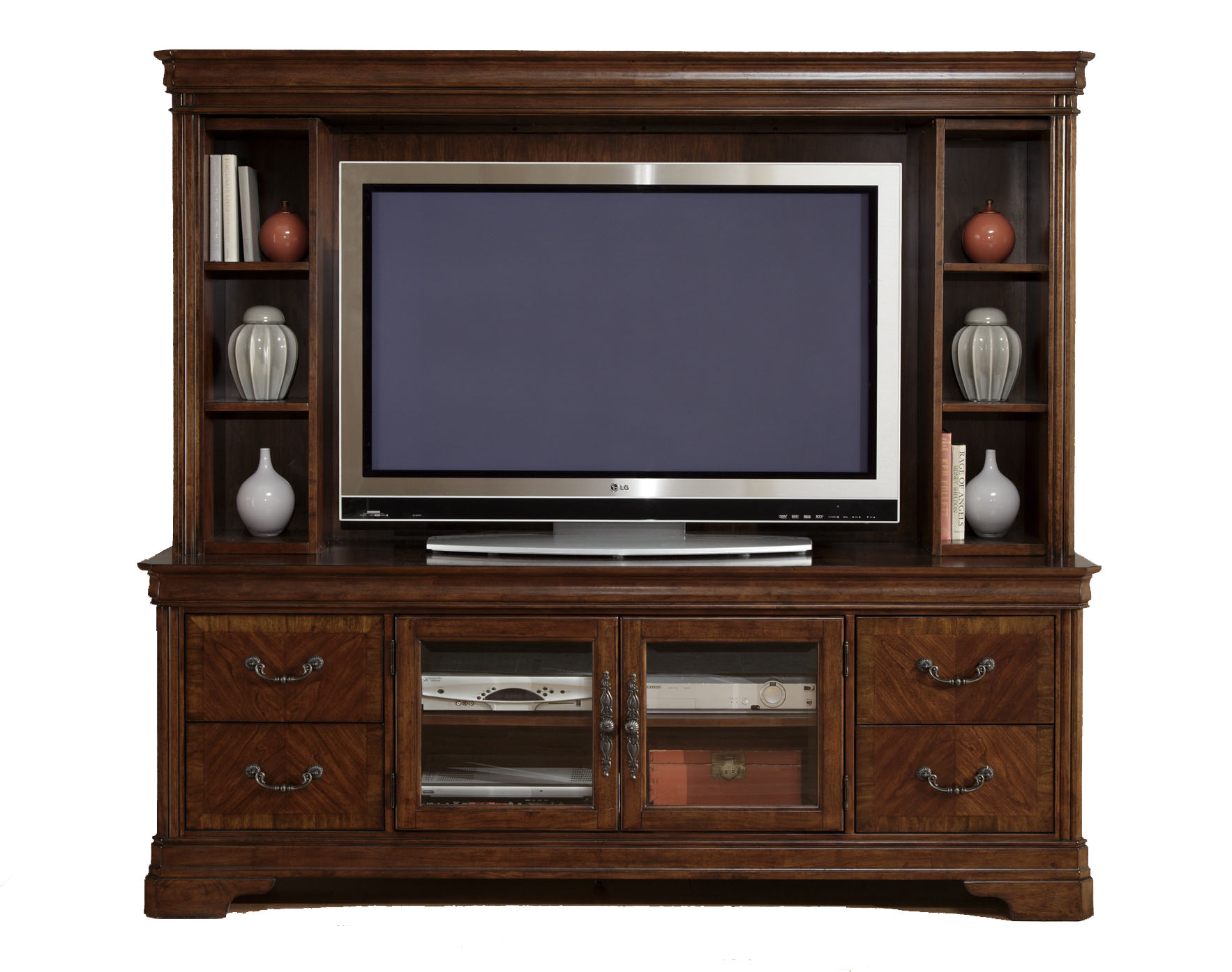 Traditional Brown TV Entertainment Center eBay : fullview1exp from www.ebay.com size 1766 x 1394 jpeg 260kB