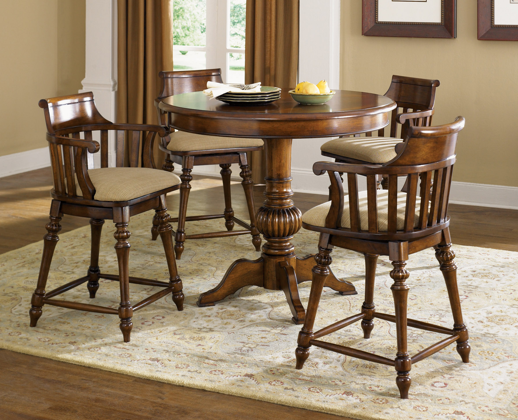 Warm toffee counter height pub table and 4 stools ebay for Table height stools