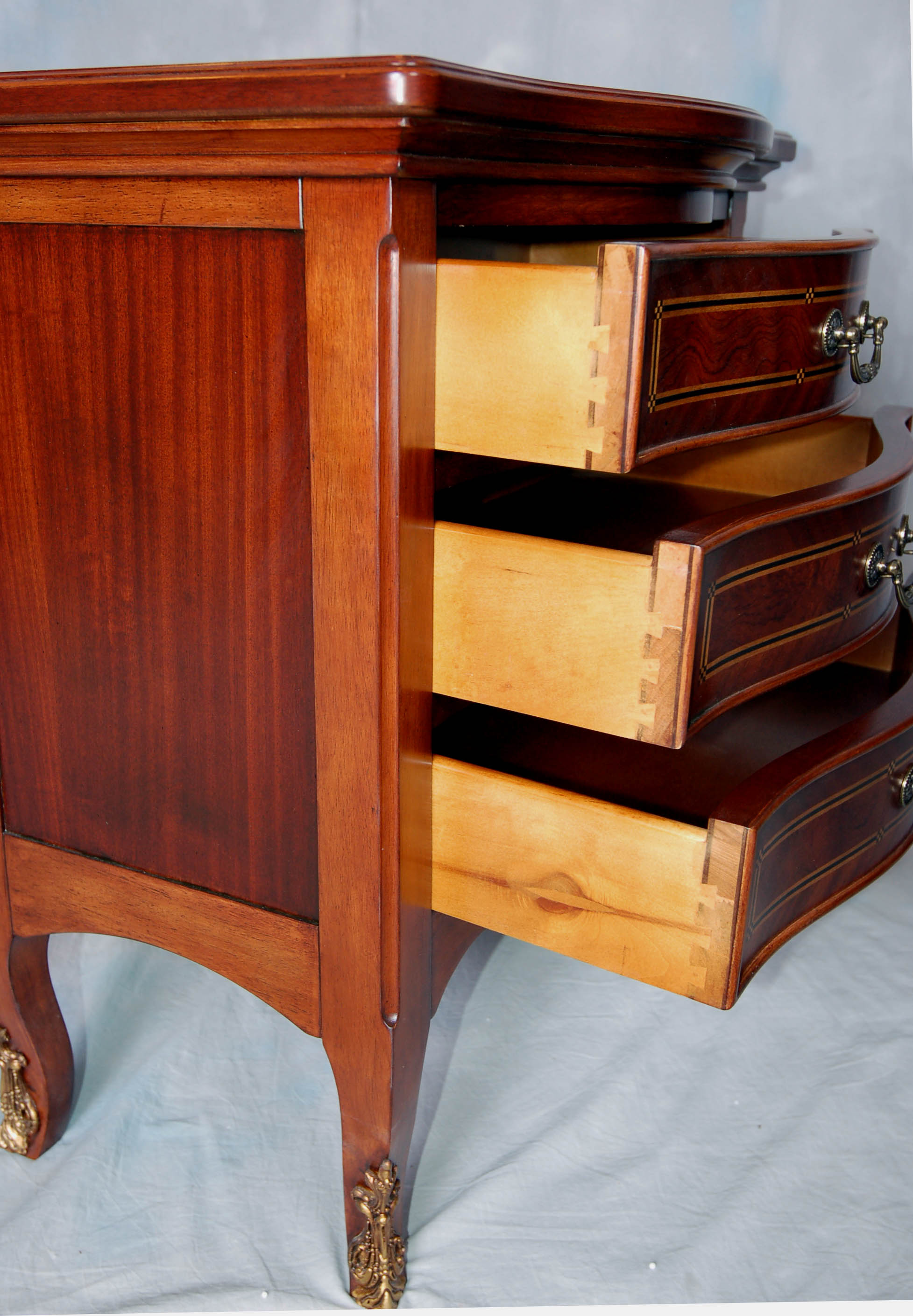 3 drawer solid wood cherry nightstand. Black Bedroom Furniture Sets. Home Design Ideas