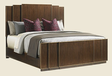 Lexington Tower Place Walnut Queen Panel Bed