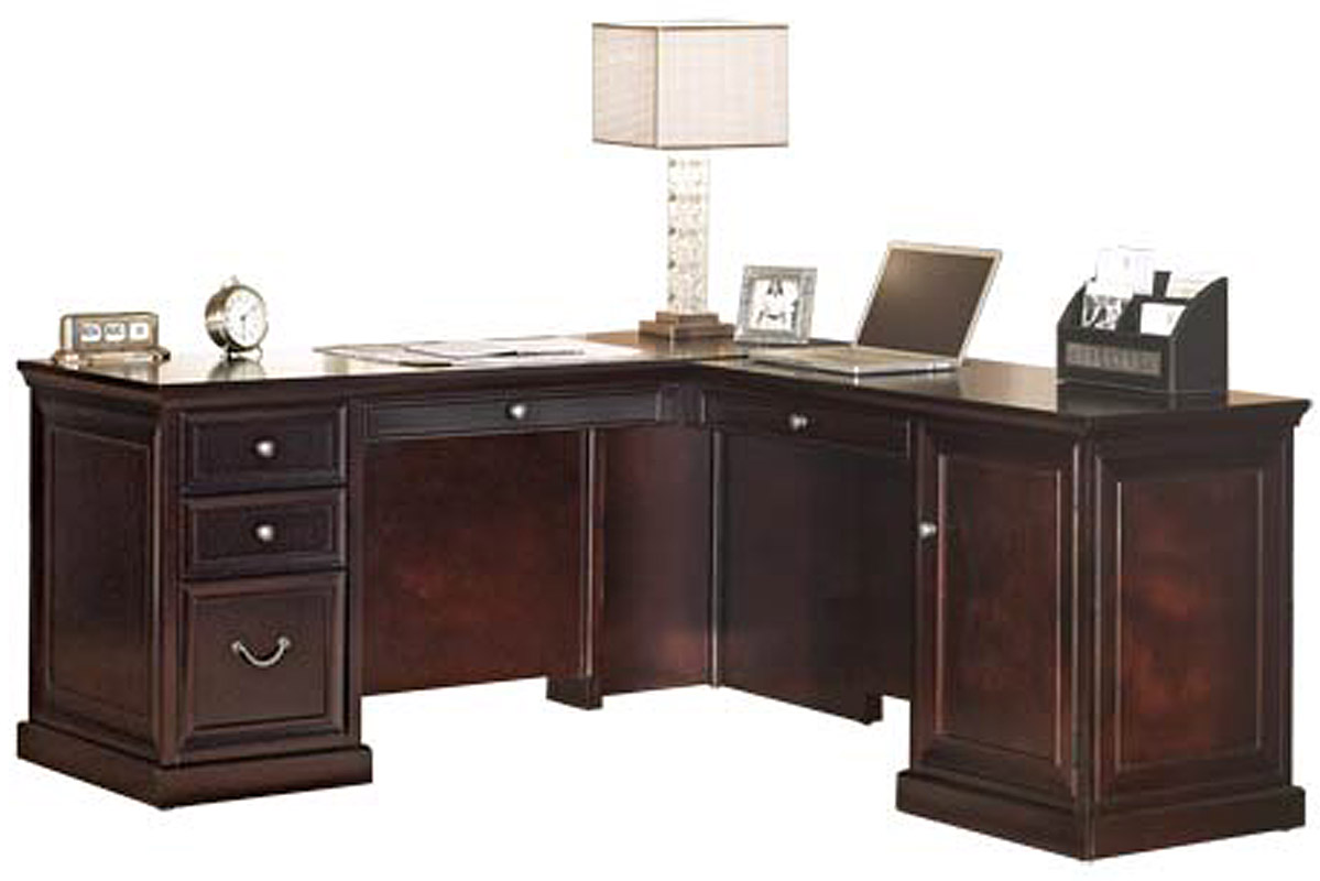 espresso executive office l desk with right return