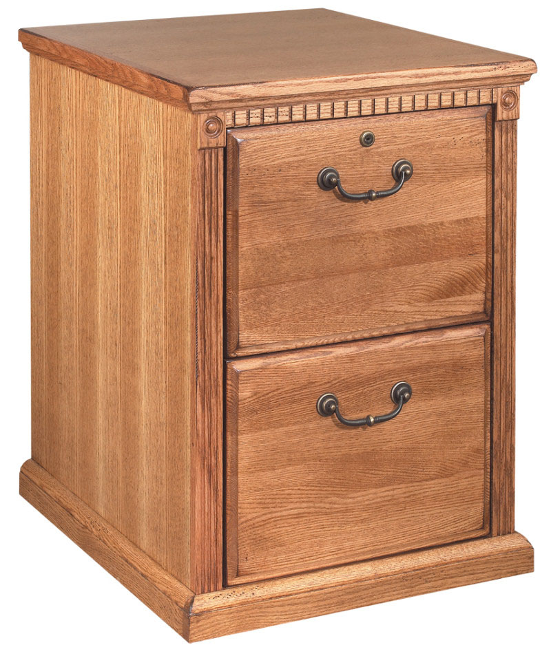 Golden Oak Two Drawer Wood Office File Cabinet Ebay