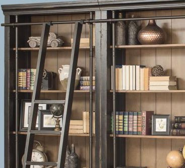 Toulouse Black 3 Piece Office Bookcase Set Or Library