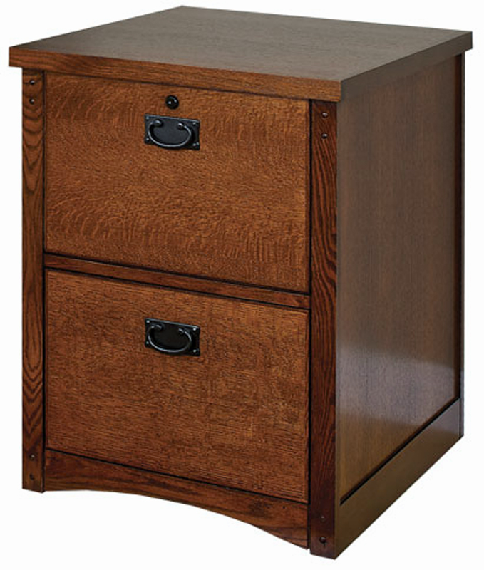 Mission Oak 2 Drawer Locking Wood File Cabinet - Fits ...