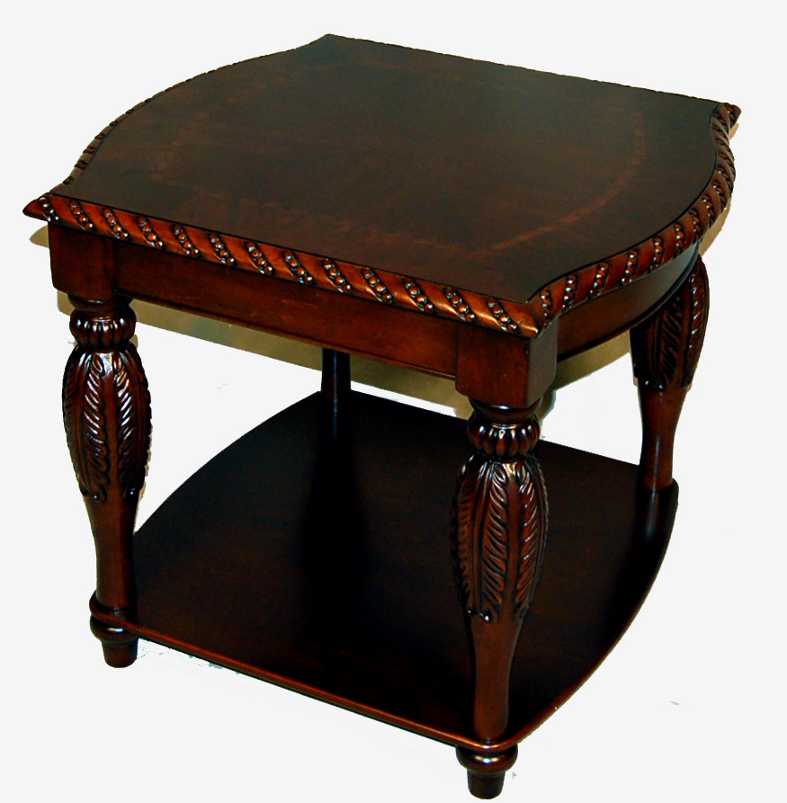 Brown carved mahogany coffee table and 2 end table set ebay Coffee table set clearance