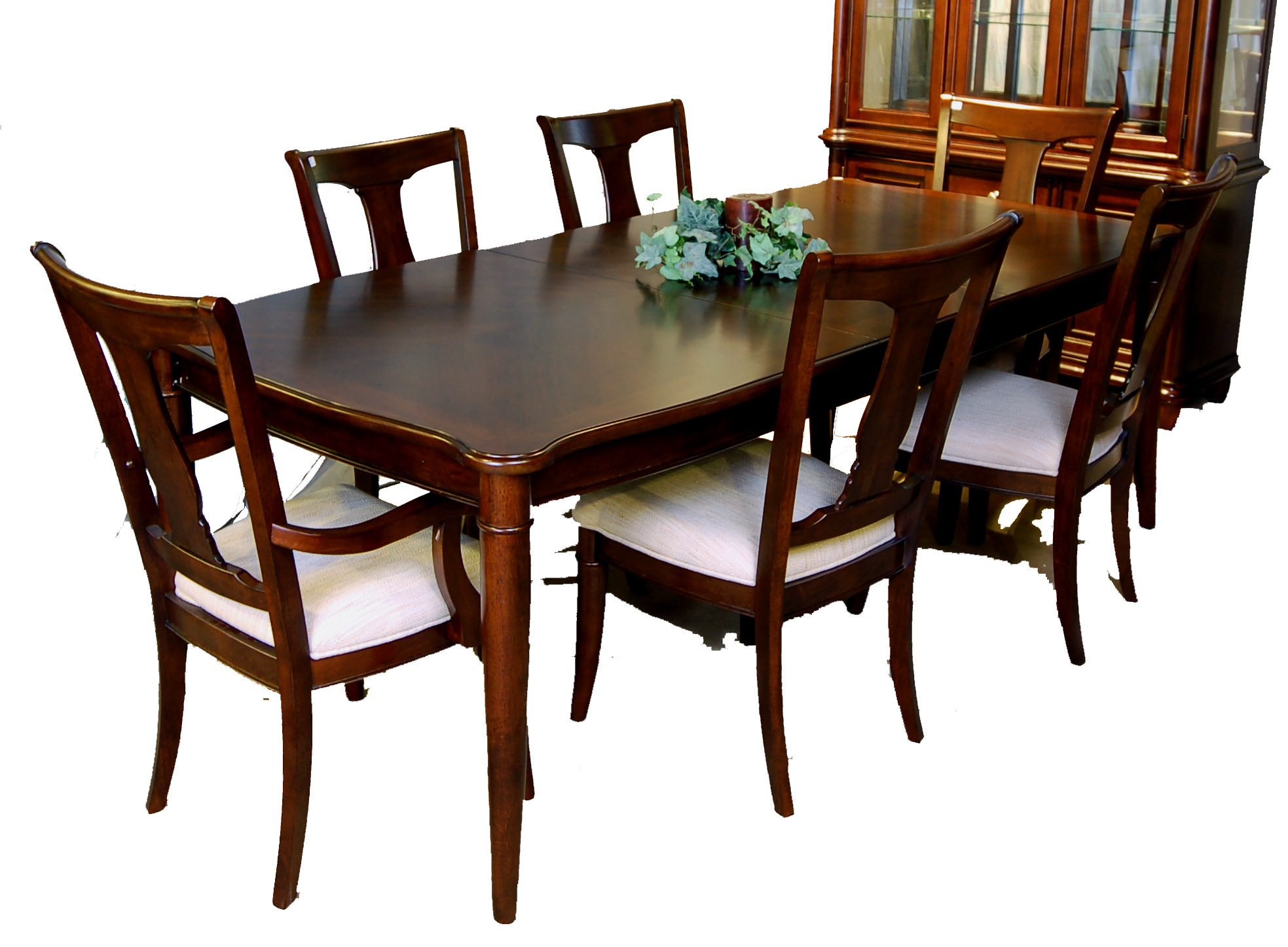 7 piece dining room table and chair set ebay for Dining room chair set