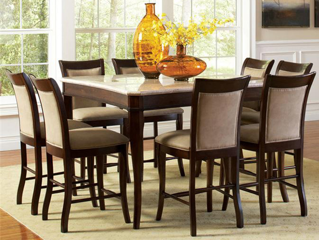 Top 54 Counter Height 9 Piece Dining Table And Chair Set EBay