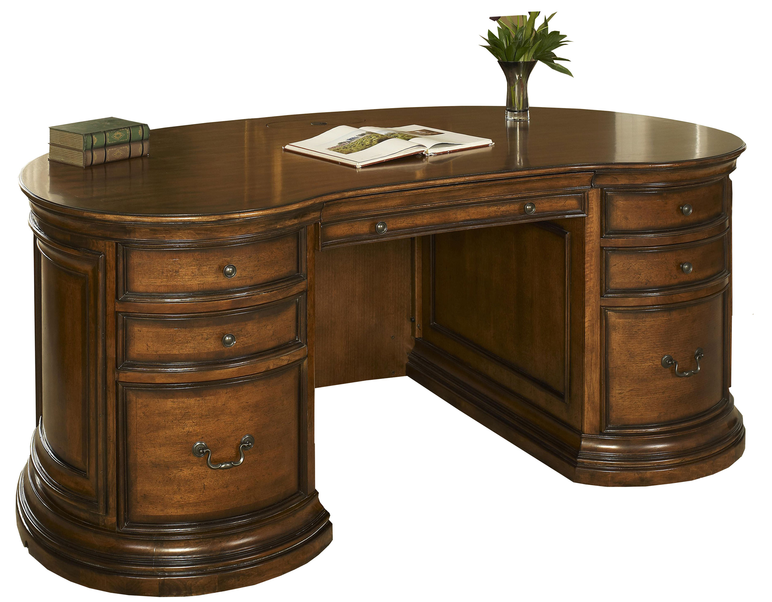 Devonshire walnut mahogany kidney shaped office desk - Kidney shaped office desk ...