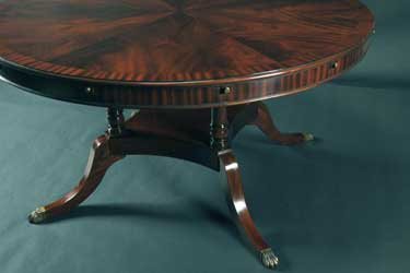 Mahogany And More Dining Tables Expanding 60 84 Inch Round Mahogany Dining