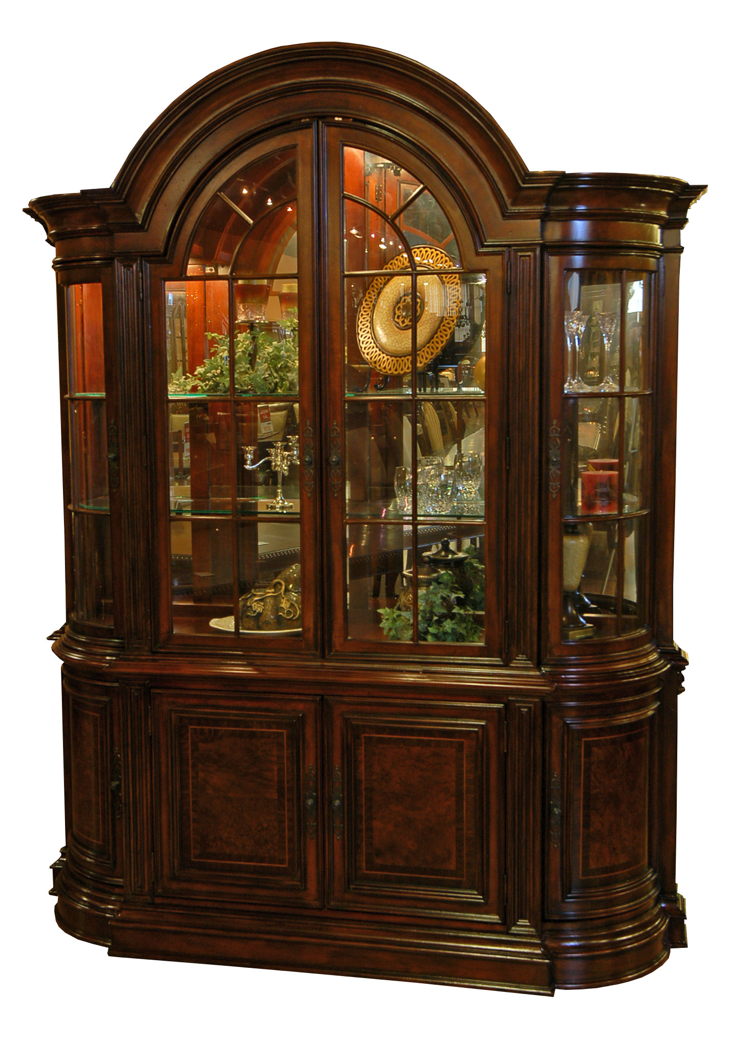 Dining room buffet and hutch china cabinet ebay for Dining cabinet furniture