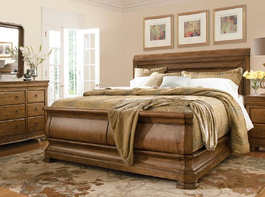 pennsylvania house alder wood king panel bed 71260