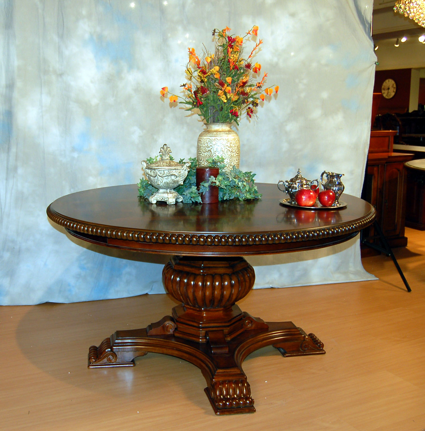 Round Expandable Dining Table Adrian Pearsall For Lane