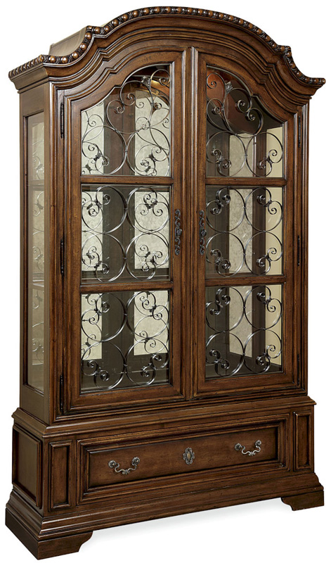 Cherry Glass Door Dining Room China Display Cabinet