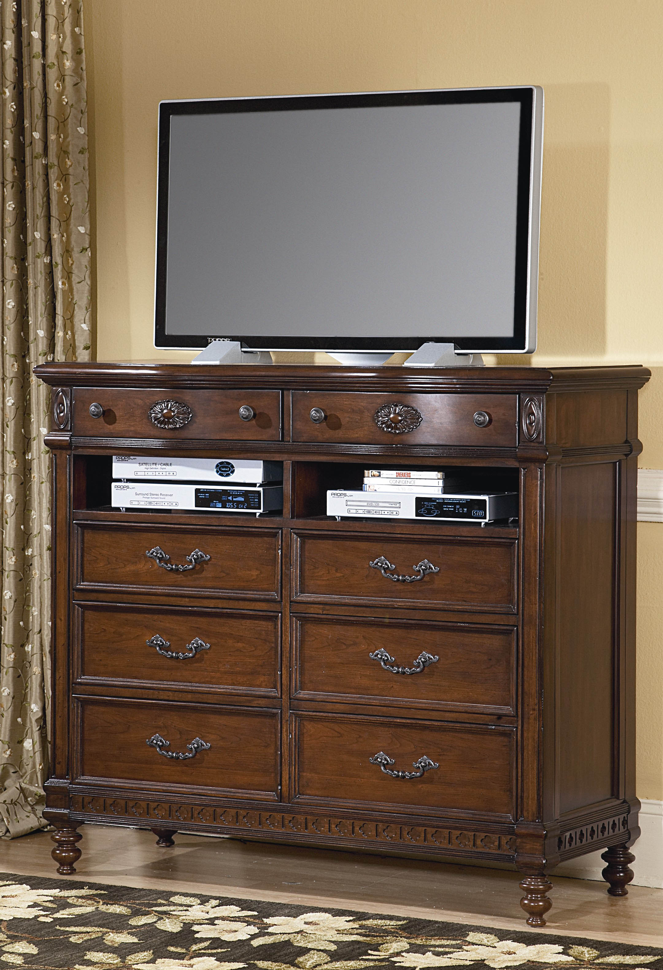 victorian renaissance cherry bedroom tv media chest ebay