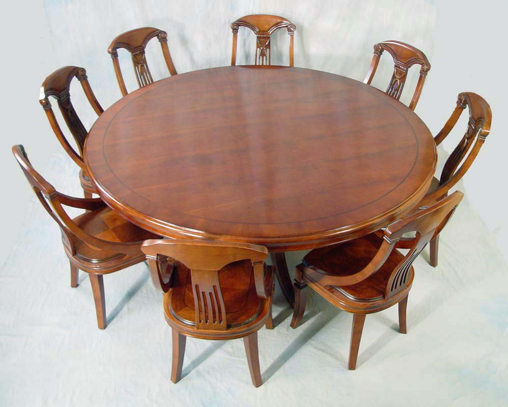 72 round mahogany dining table and chair set ebay Round dining table set